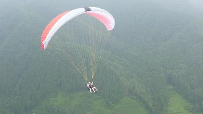 パラグライダーから空撮